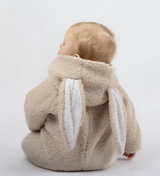 LIVLY Fleece Bunny Overall - Beige